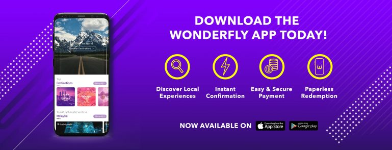 Wonderfly banner featuring Google Play Store Apple Store mobile application