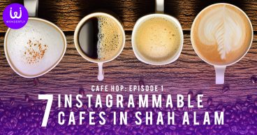 Four types of coffee with caption 7 Instagrammable Cafes in Shah Alam