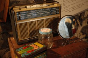 And old radio and antiquated knick knacks