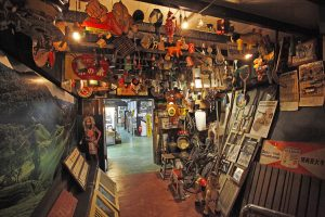collectibles and memorabilia in the Time Tunnel Museum