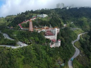Winding roads on Genting Highlands