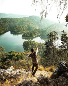 At the peak of Bukit Tabur