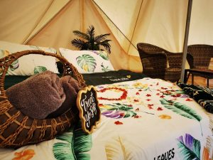 The luxurious tents at Gopeng Glamping Park