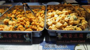 Fried salted snacks at the night market