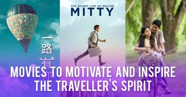 Movies to motivate and inspire the traveller's spirit
