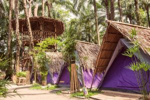 A glampsite at Tadom Hill Resort