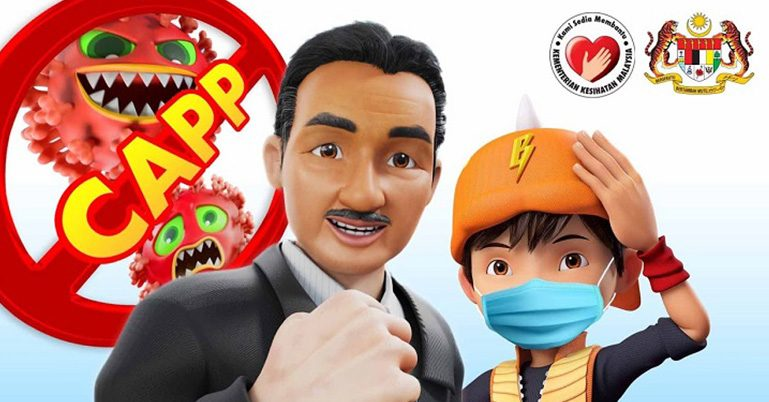 BoBoiBoy teams up with DG Hisham in new animated PSA to fight COVID-19