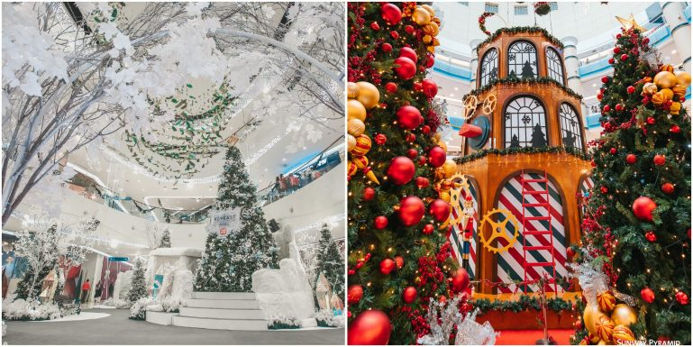 Malls that are decked with décor and ready for the Christmas season